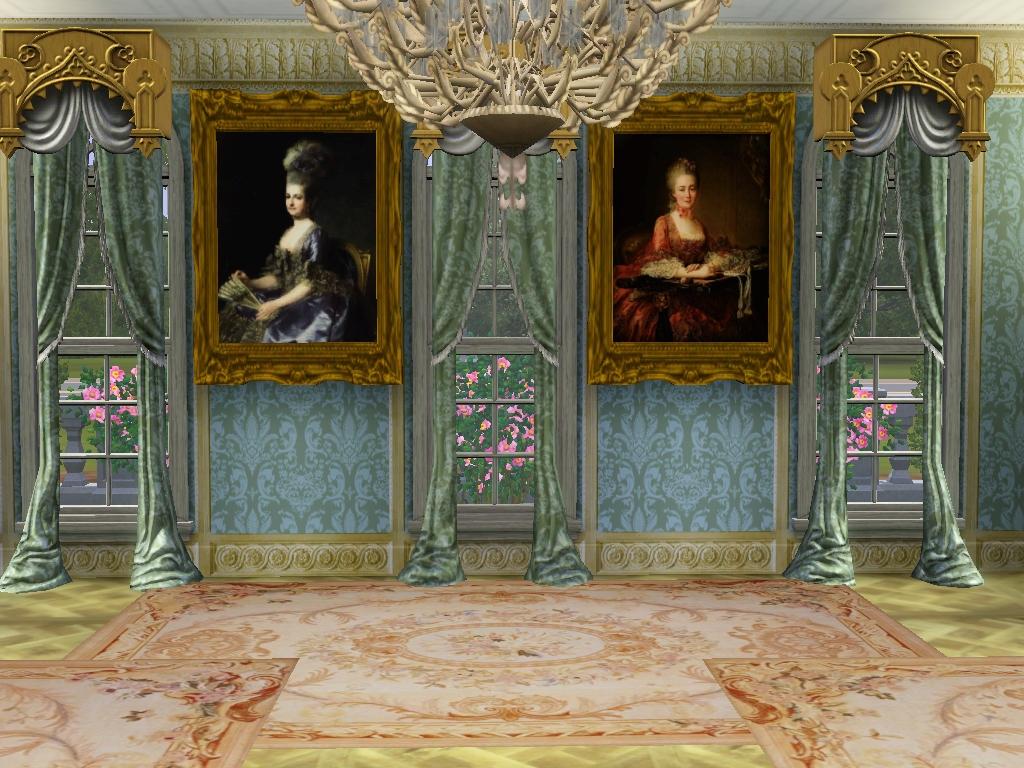 My Sims 3 Blog Small 18th Century Rococo Portraits Set 1