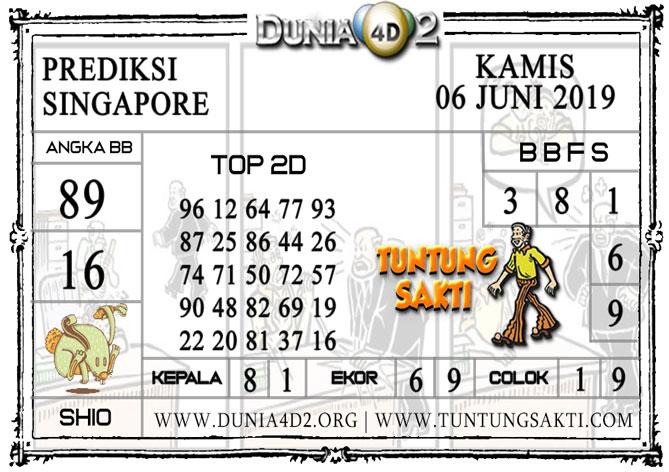 """Prediksi Togel """"SINGAPORE"""" DUNIA4D2 06 JUNI 2019"""