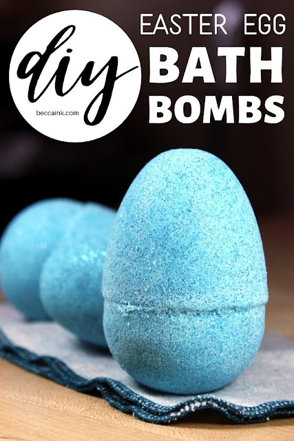 Easter Egg Bath Bombs Recipe. Fun Easter basket filler ideas. These DIY Easter egg bath bombs add a bit of fun to bath time no matter your age! The perfect non-candy Easter basket filler for tweens, teens and even adults, these DIY Easter egg bath bombs add an abundance of bubbles, color and sparkling glitter to your bath time experience. Plus, they also nourish and hydrate dry skin with natural ingredients like cocoa butter, babassu oil and yogurt powder. Make these for your Easter baskets!