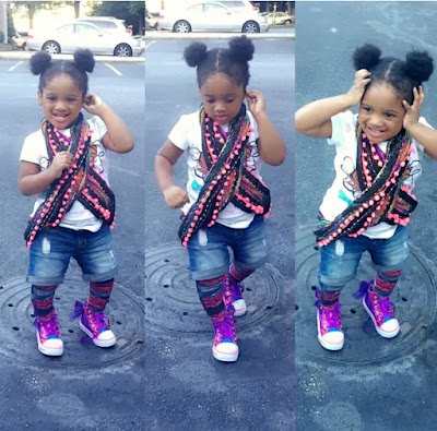 Tuface Idibia 's little daughter, Olivia t