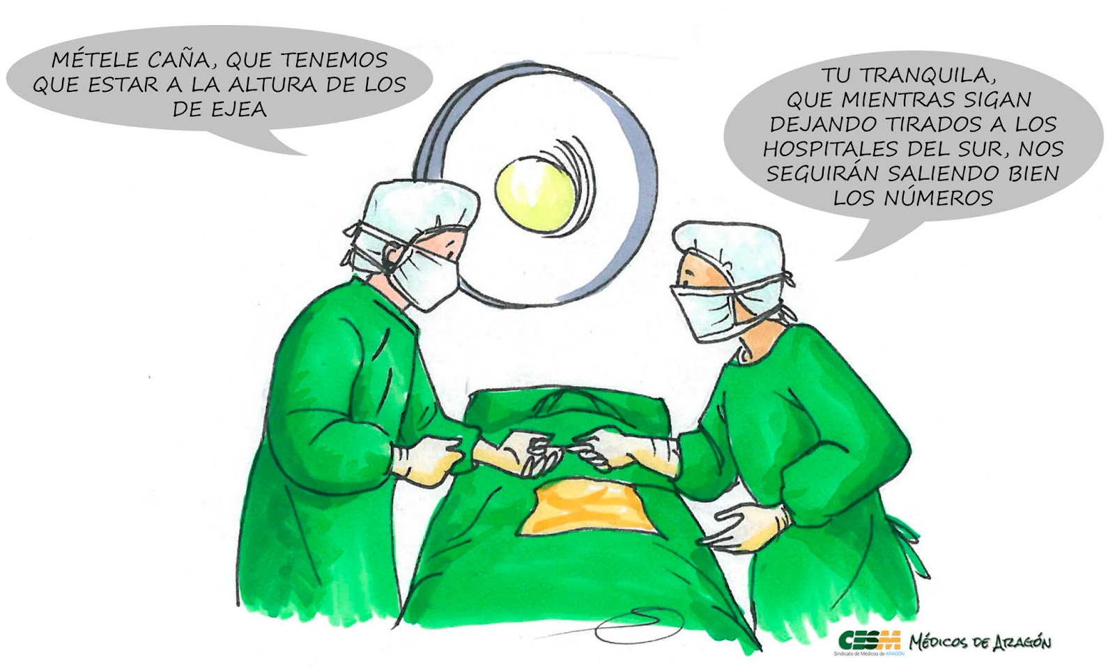"""EL HOSPITAL """"CIUDAD DE LAMBÁN (Y DE SUMELZO, Y DE BORAO ...) VA VIENTO EN POPA. PERO LOS NUEVOS DEL SUR, NI CARA AL AIRE"""