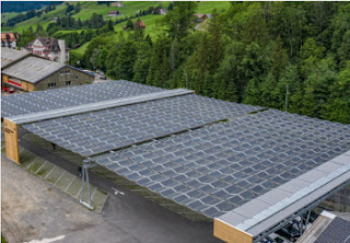 foldable solar roof for parking lots