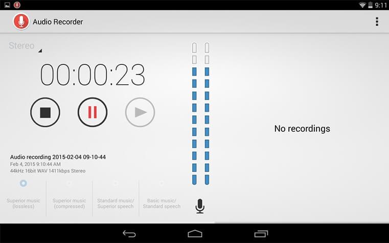 Grabadora de audio Sony