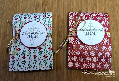 Illuminated Christmas, Christmas treat bags, heart of Christmas, Rhapsody in craft