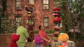 Elmo, Zoe, Alan, Chris, Abby Cadabby, Sesame Street Episode 4312 Elmo and Zoe's Hat Contest season 43