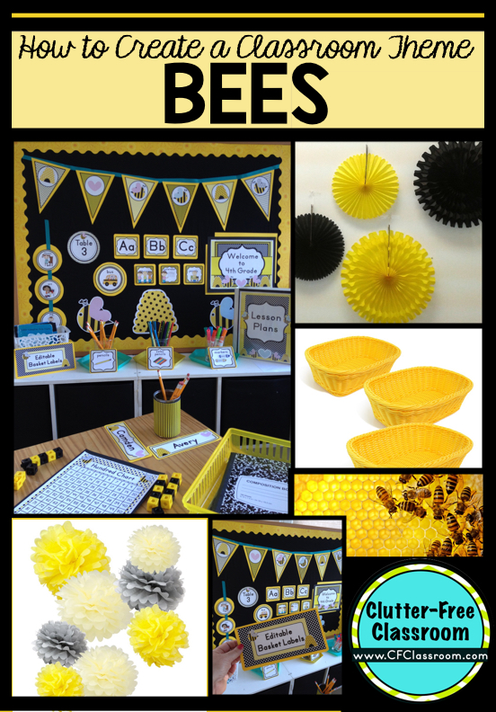 Classroom Ideas With Bees ~ Bees themed classroom ideas printable