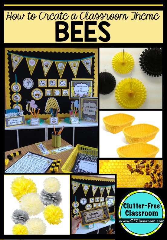 Classroom Decor Bees ~ Bees themed classroom ideas printable