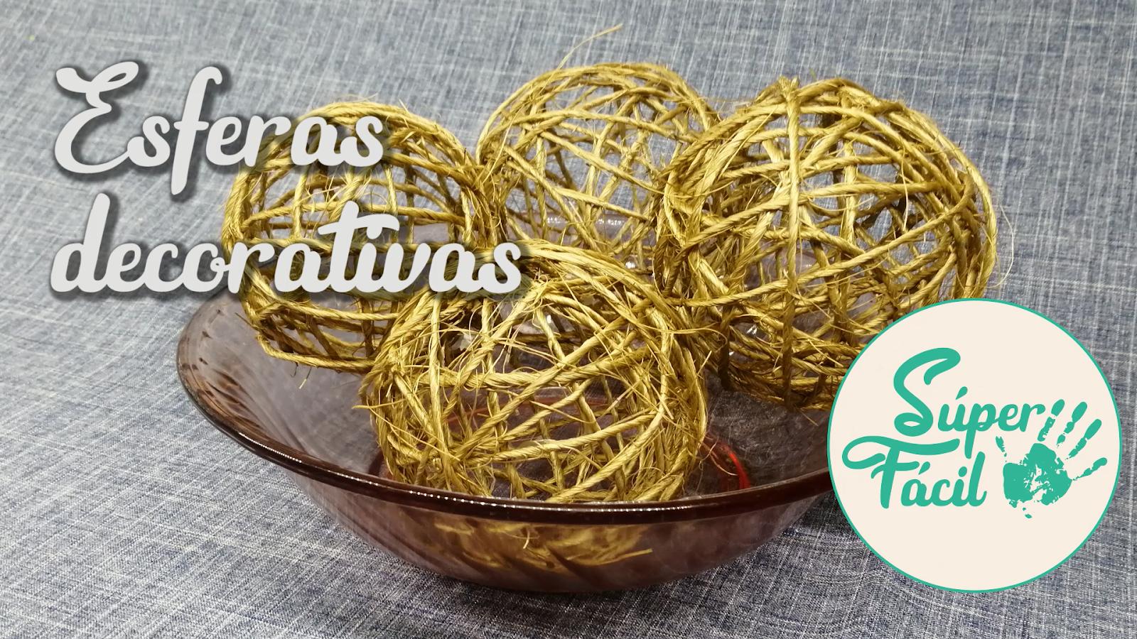 Esferas decorativas hechas con mecate / Ideas en 5 minutos