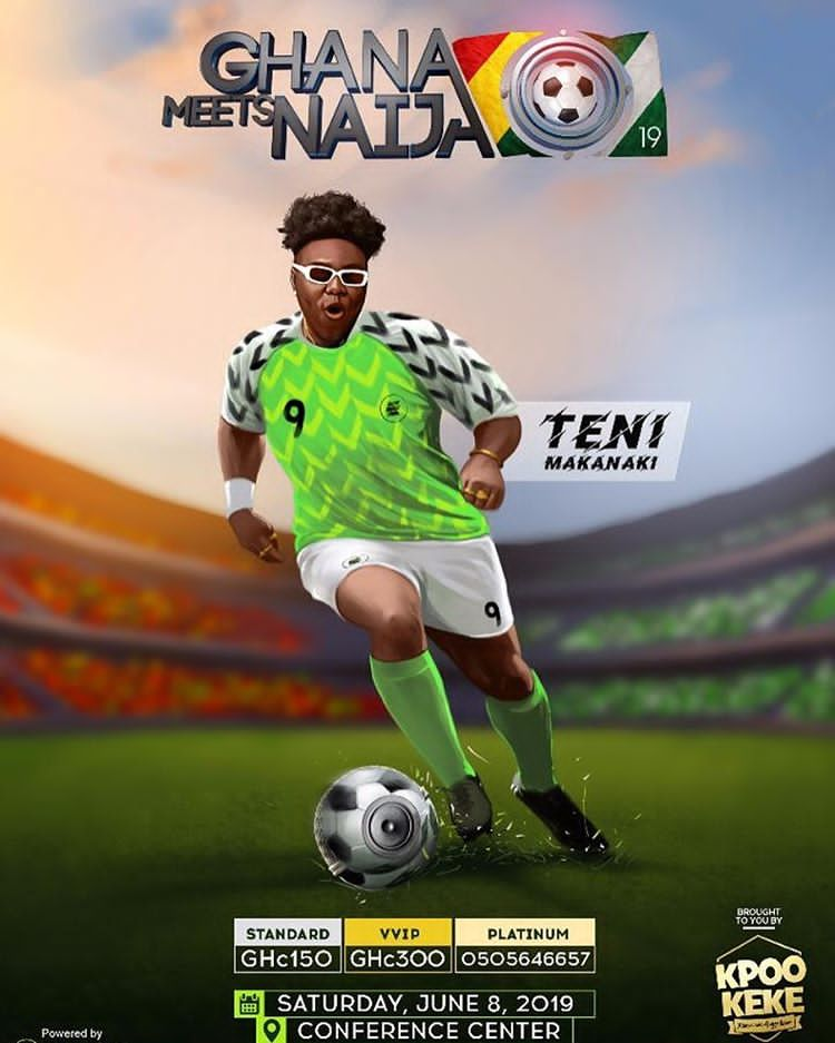lowest price 6dcb6 6eafb Teni rock Nigerian super Eagle jersey for her forthcoming ...