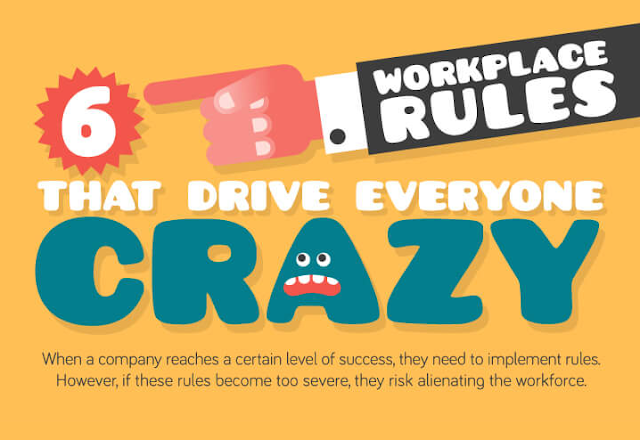 6 Workplace Rules That Drive Everyone Crazy #infographic