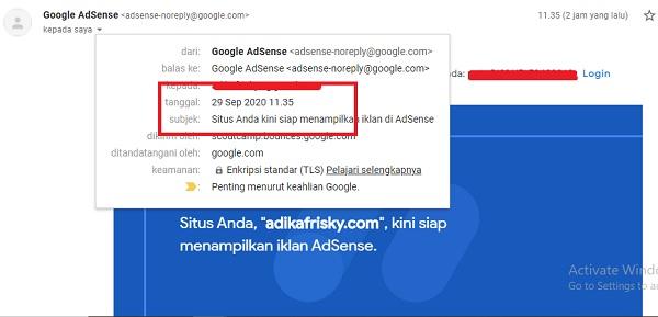 Blog Tanpa Visitor di Approve Google AdSense dalam 2 hari