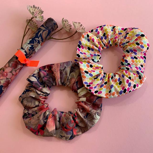 Liberty scrunchies -  hår elastikker i stof
