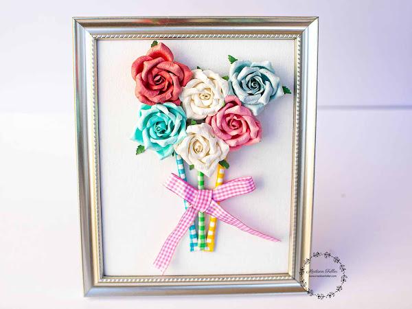 DIY Framed Bouquet