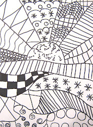 pattern landscape crazy zentangle patterns zentangles easy simple draw drawings fill middle using clay pastels