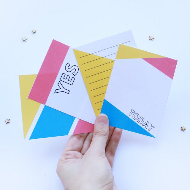 Free Journaling Cards: CMYK