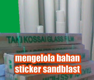 manata bahan sticker sandblast