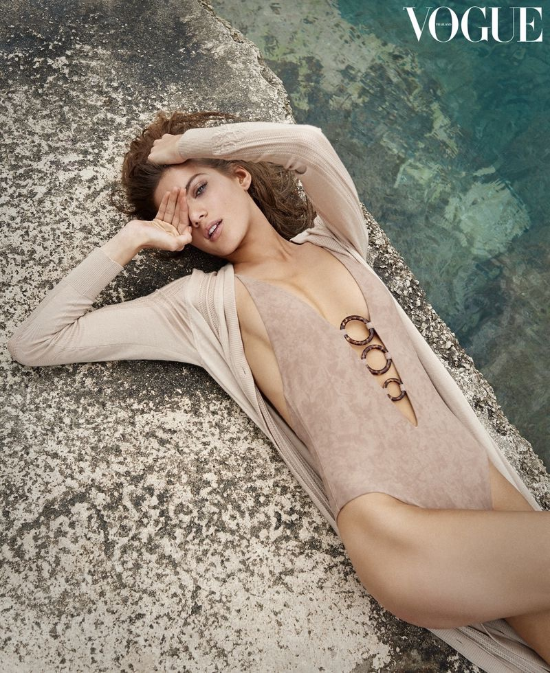 Valery Kaufman heads to the beach for Vogue Thailand's recent issue