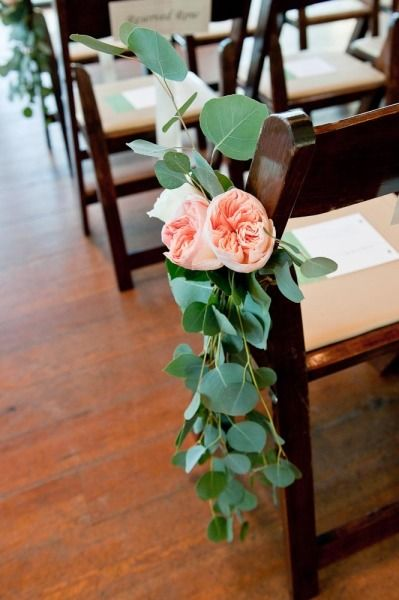 eucalyptus aisle decoration