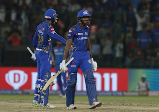 DC vs MI 34th Match IPL 2019 Highlights
