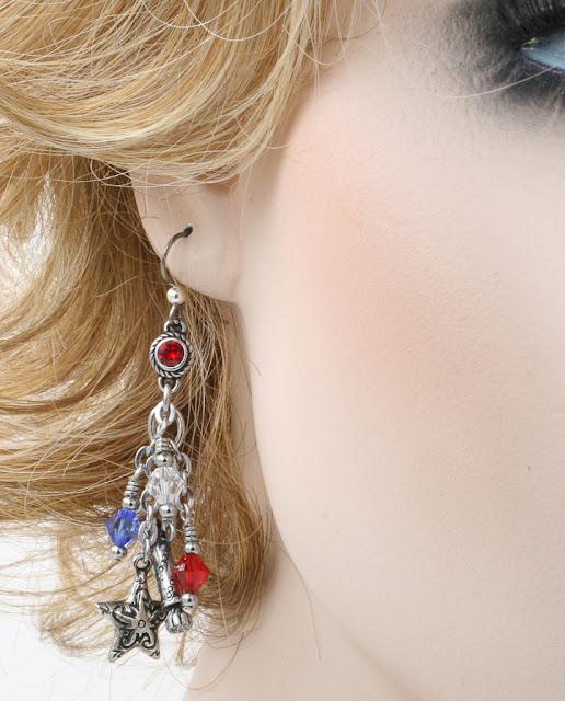 america the beautiful earrings