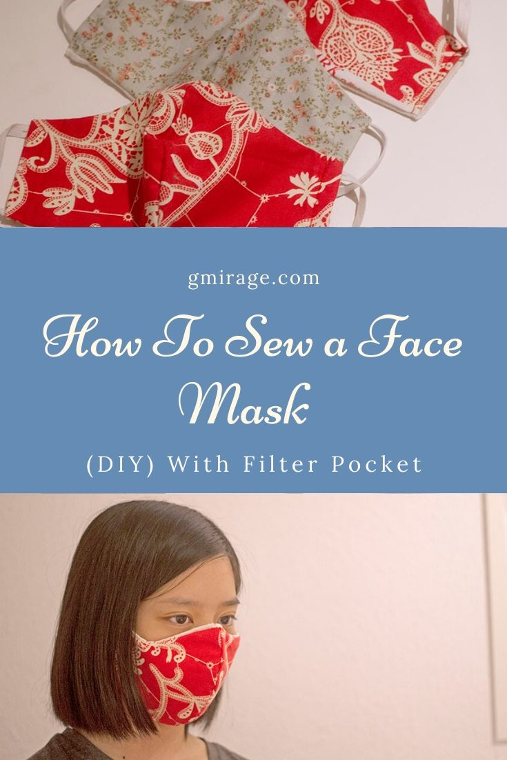 How To Sew a Fitted Face Mask (DIY) With Filter Pocket