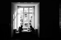 at the window -street photography