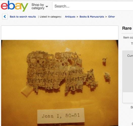 Papyrus Kuno Injil Yohanes Ditemukan Dijual Di Situs eBay