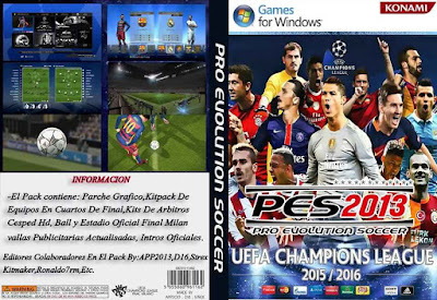 New Graphic Menu Pack UEFA Champions League 2016 Pes 2013