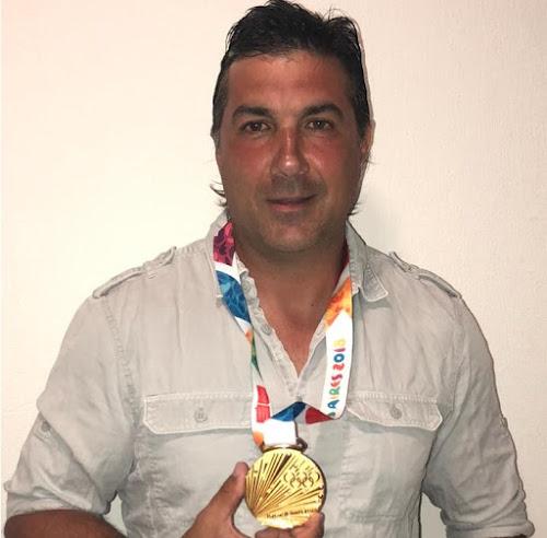 Diego Rodríguez, oro con Los Pumitas