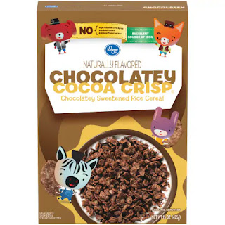 A stock image of Kroger Chocolatey Cocoa Crisp (Cocoa Crispy Rice) Cereal