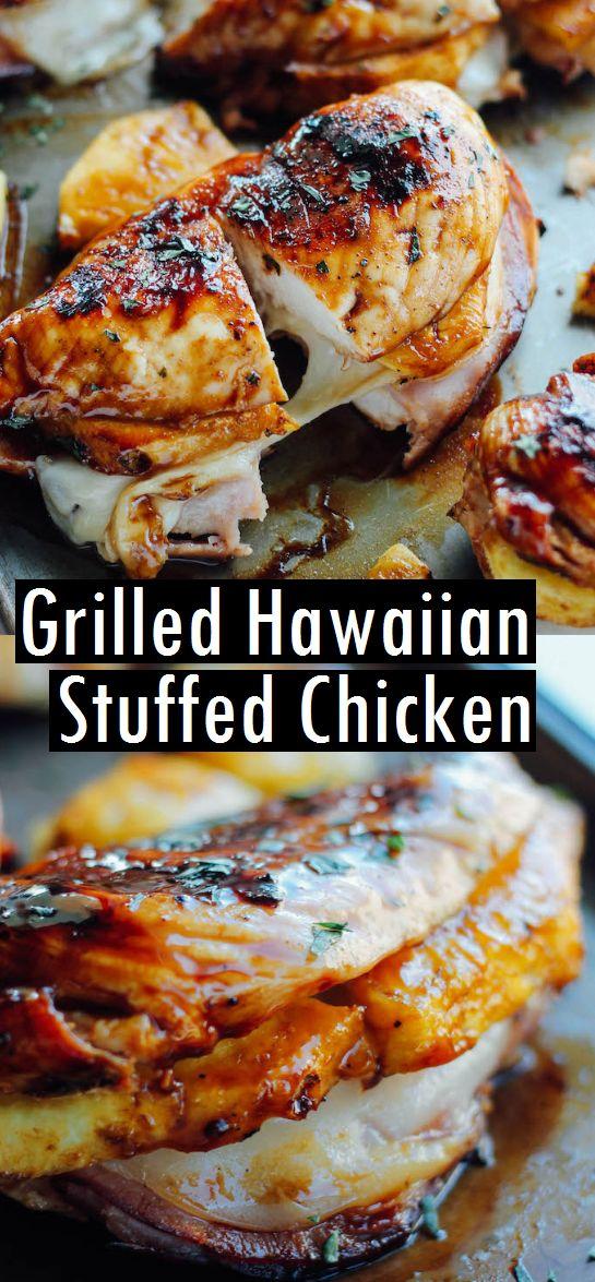 GRILLED HAWAIIAN STUFFED CHICKEN