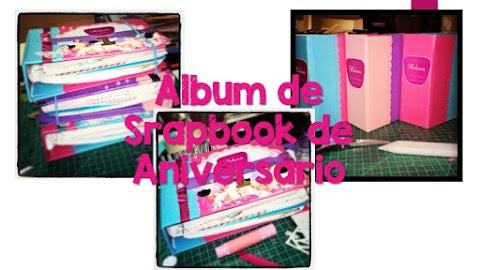 Álbum de Scrapbook de Aniversário