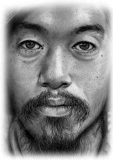 retratos realistas a lapis grafite