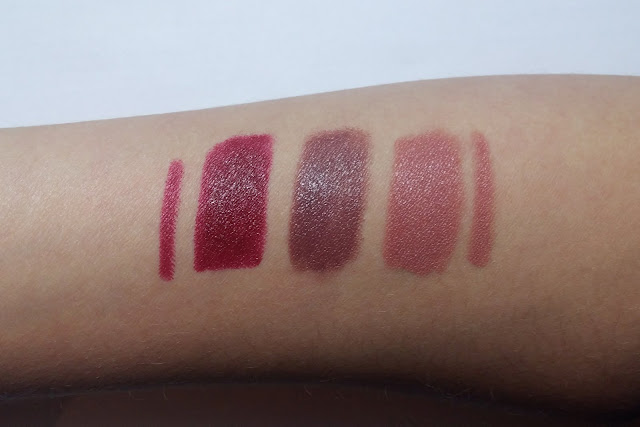 Swatch: 05 Lush Berry, 06 Don't stop the nude, 02 Clear nude