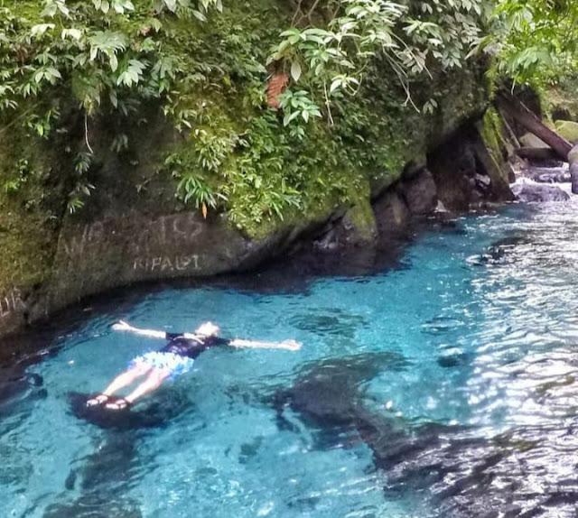 lokasi dan tiket masuk kolam abadi air terjun Teroh Teroh Langkat Sumatra Utara