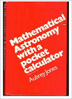 Book cover Mathematical Astronomy with a Pocket Calculator by Aubrey Jones