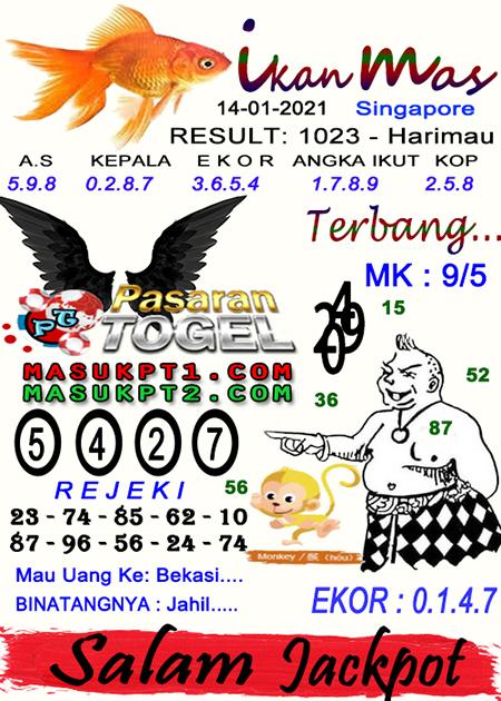 Syair Ikan Mas SGP Kamis 14-Jan-2021