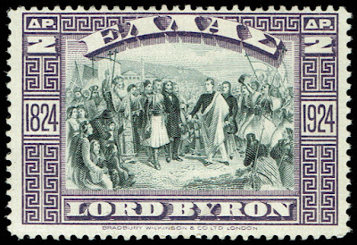 Greece 1924 Lord Byron at Missolongh