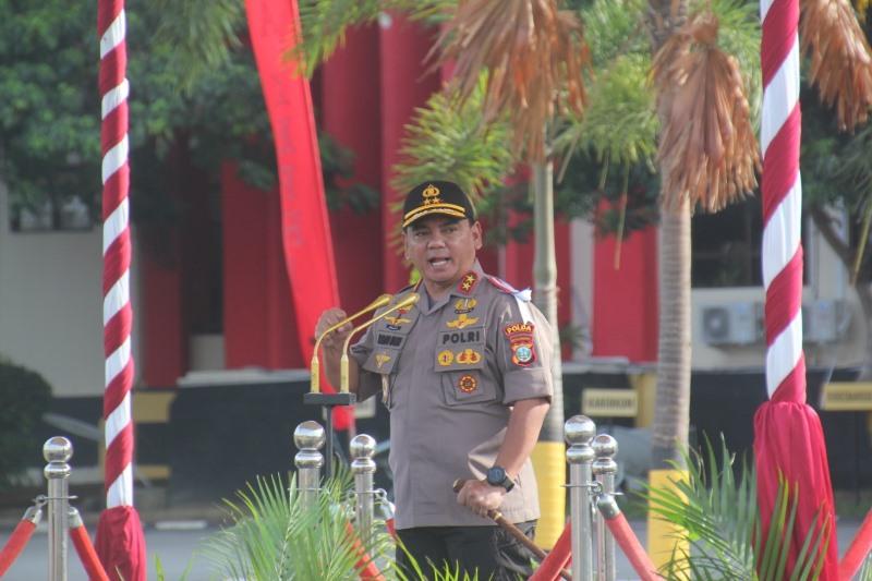 Kapolda Kepri Pimpin Apel Gelar Pasukan Operasi Patuh Seligi 2019