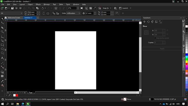 Cara Membuat Tampilan Dark Theme di CorelDRAW X8 / CorelDRAW 2020