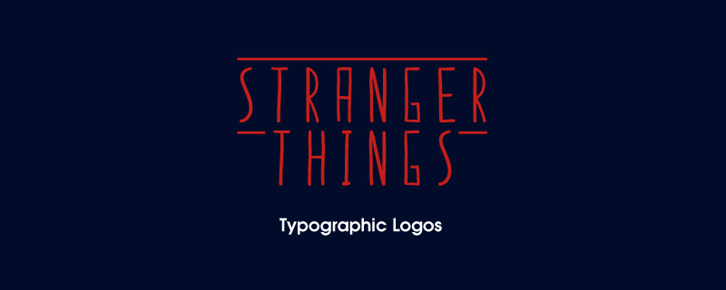 Logos tipográficos de Stranger Things