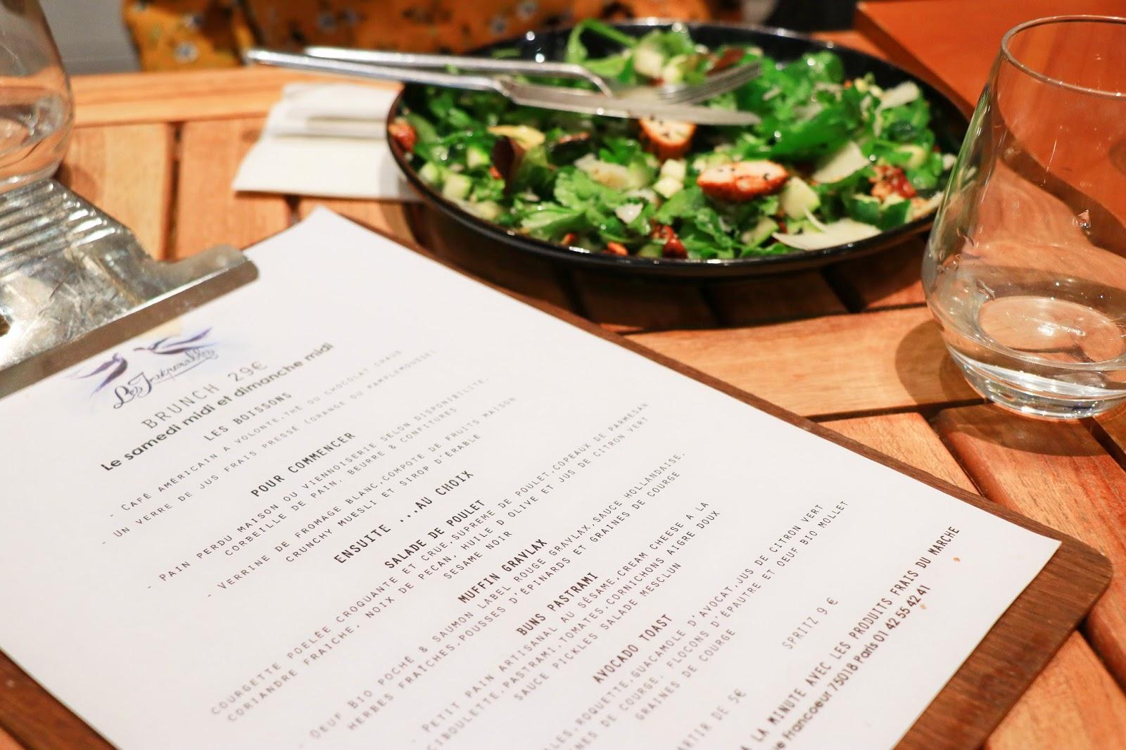 concours brunch paris dimanche restaurant les inséparables chocolat chaud monbana avocado toast les gommettes de melo instagram
