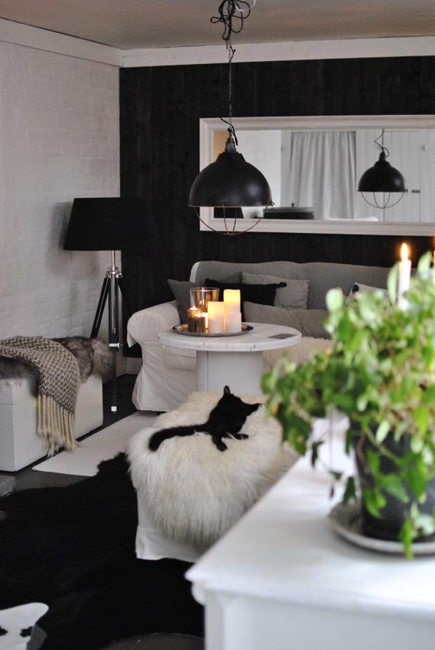 livingroom kohud vardagsrum panelvägg hannashantverk.blogspot.se