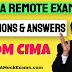 CIMA Remote Exams Frequently Asked Questions & Answers (FAQ)