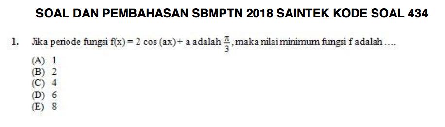 Sbmptn, sbmptn 2019, soal sbmptn 2019, pembahasan sbmptn 2019, 2019 masuk ptn, ugm, ui, unesa, um, undib, ub, its, soal sbmptn saintek.