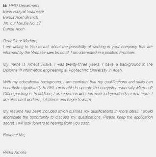Contoh Surat Lamaran Kerja Sebagai ADMIN / Sekretaris Dalam Bahasa Inggris Dan Artinya