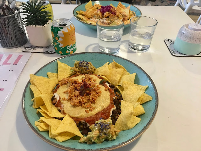 Vegan nachos at Alkaline Kitchen, Middlesbrough
