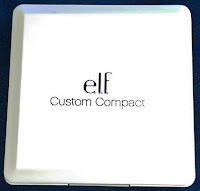 ELF custom compact eyeshadow quad palette white fits Mac pans Coastal Scents
