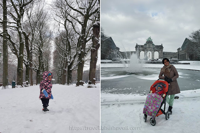 Snow in Brussels