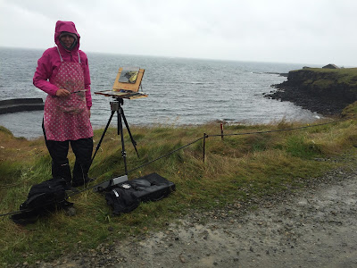 Painting in the rain! Iceland
